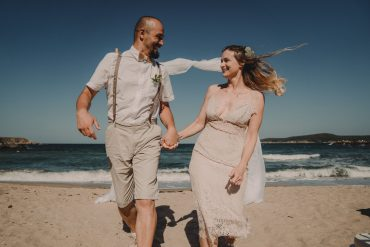 Георги Стратиев, сватбен фотограф, морска сватба на брега